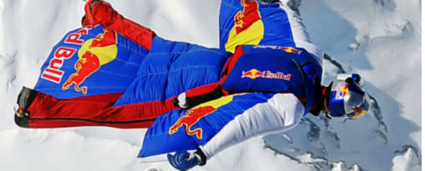 Man in Redbull Wing Suit